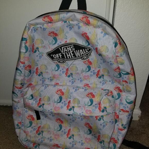 6ef8a615eaf Rare Vans Little Mermaid Backpack